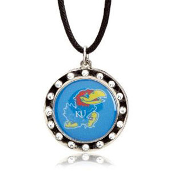Kansas Crystal Circle Necklace