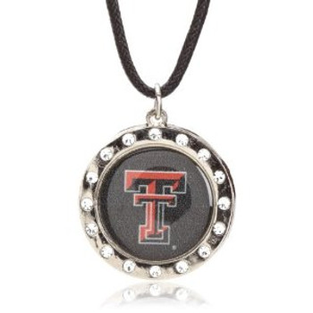 Texas Tech Crystal Circle Necklace