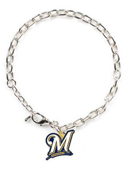Milwaukee Brewers Logo Bracelet