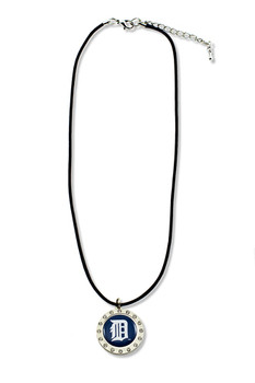Detroit Tigers Crystal Circle Necklace