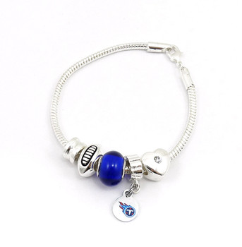 Tennessee Titans Football Blue Bead Bracelet