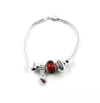 Arizona Cardinals Football Red Bead Bracelet