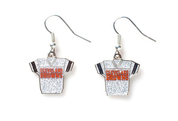 Cleveland Browns Jersey Glitter Dangler Earrings