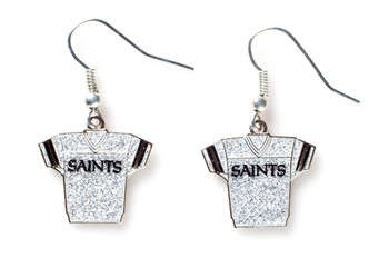 New Orleans Saints Jersey Glitter Dangler Earrings