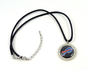 Buffalo Bills Crystal Circle Necklace
