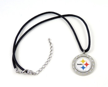 Pittsburgh Steelers Crystal Circle Necklace
