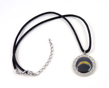 Los Angeles Chargers Crystal Circle Necklace
