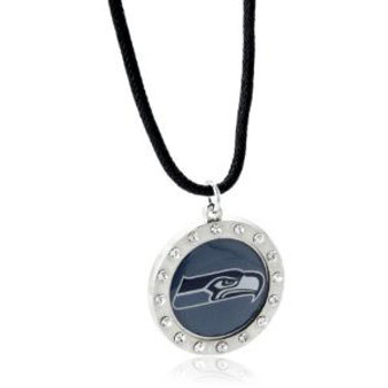 Seattle Seahawks Crystal Circle Necklace