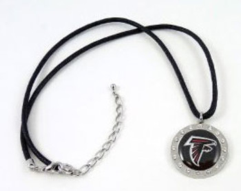 Atlanta Falcons Crystal Circle Necklace