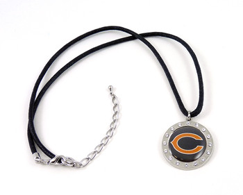 Chicago Bears Crystal Circle Necklace