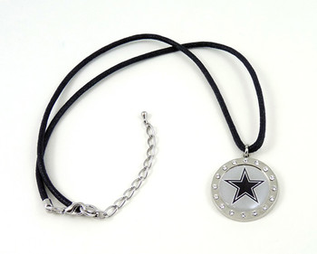 Dallas Cowboys Crystal Circle Necklace