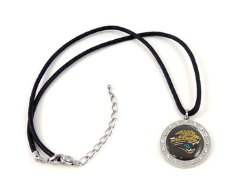 Jacksonville Jaguars Crystal Circle Necklace