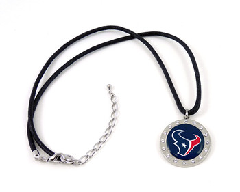 Houston Texans Crystal Circle Necklace