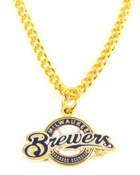 Milwaukee Brewers Logo Necklace