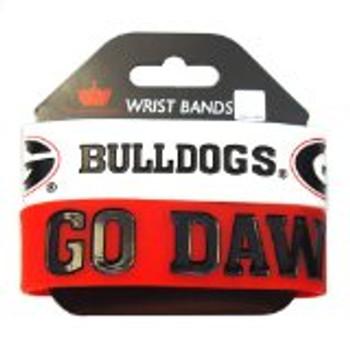 Georgia Wide Wristbands (2 Pack)