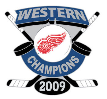 Detroit Red Wings 2009 Western Conference Champs Pin