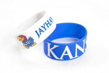Kansas Wide Wristbands (2 Pack)