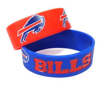 Buffalo Bills Wide Wristbands (2 Pack)