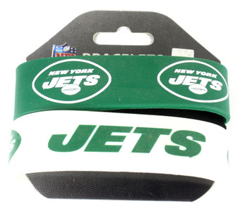 New York Jets Wide Wristbands (2 Pack)