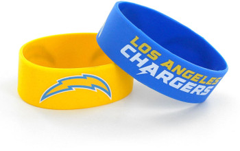 Los Angeles Chargers Wide Wristbands (2 Pack)