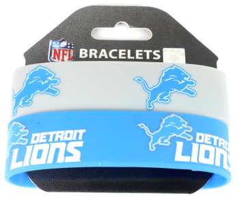 Detroit Lions Wide Wristbands (2 Pack)