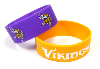 Minnesota Vikings Wide Wristbands (2 Pack)
