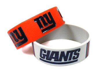 New York Giants Wide Wristbands (2 Pack)
