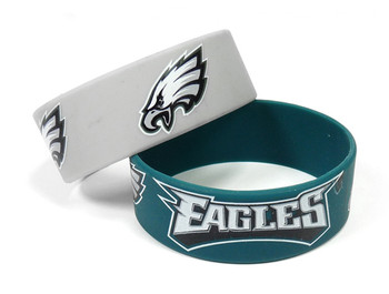 Philadelphia Eagles Wide Wristbands (2 Pack)
