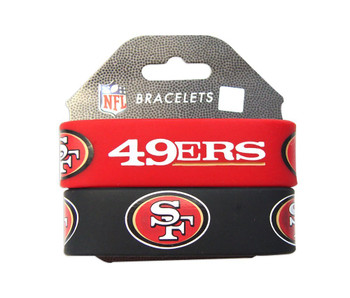 San Francisco 49Ers Wide Wristbands (2 Pack)