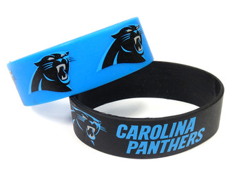 Carolina Panthers Wide Wristbands (2 Pack)