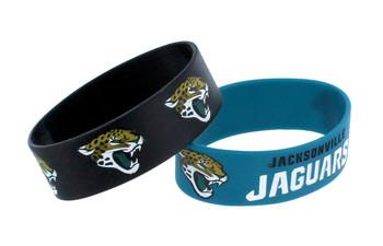 Jacksonville Jaguars Wide Wristbands (2 Pack)