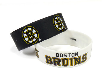 Boston Bruins Wide Wristbands (2 Pack)