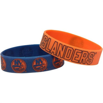 New York Islanders Wide Wristbands (2 Pack)