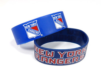 New York Rangers Wide Wristbands (2 Pack)