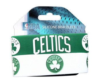 Boston Celtics Wide Wristbands (2 Pack)