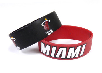 Miami Heat Wide Wristbands (2 Pack)
