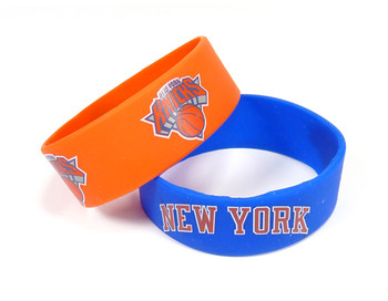 New York Knicks Wide Wristbands (2 Pack)