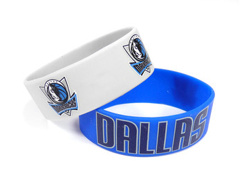 Dallas Mavericks Wide Wristbands (2 Pack)