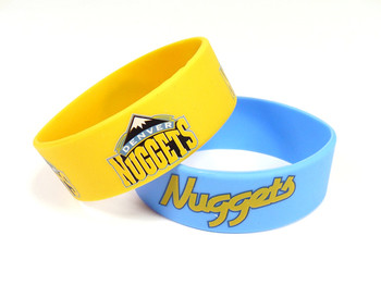 Denver Nuggets Wide Wristbands (2 Pack)