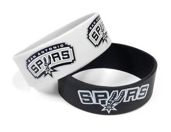 San Antonio Spurs Wide Wristbands (2 Pack)