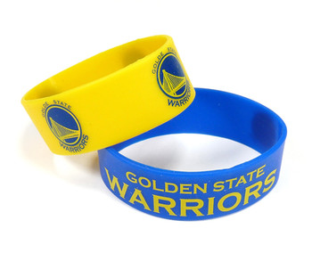 Golden State Warriors Wide Wristbands (2 Pack)