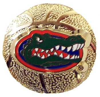 Florida Gators Sculpured Basketball Pin