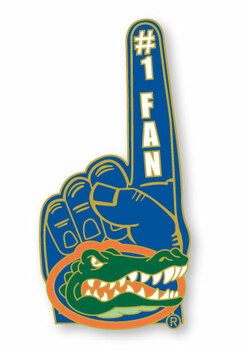 Florida Gators #1 Fan Pin