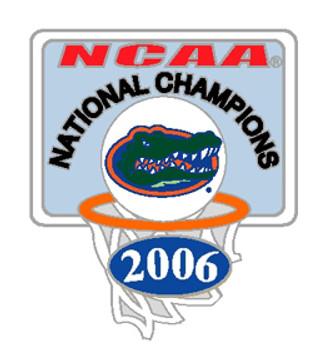 Florida Gators 2006 National Champs Hoops Pin