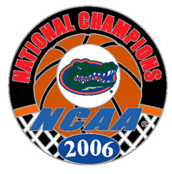 Florida Gators 2006 National Champs Circle Pin