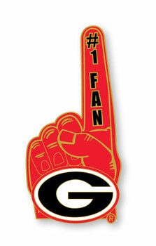 Georgia Bulldogs #1 Fan Pin