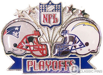 2007 AFC Champs Dueling Pin - Patriots vs. Chargers