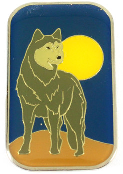 Grey Wolf Metal Magnet