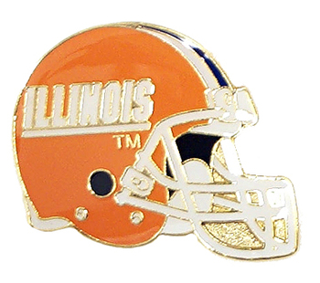 Illinois Football Helmet Pin