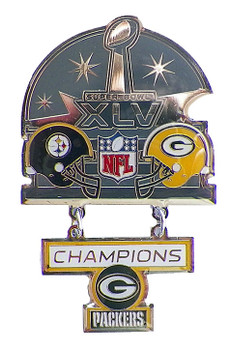 Super Bowl XLV (45) Oversized Commemorative Pin - Dangler Style